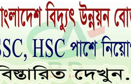 বাংলাদেশ বিদ্যুৎ উন্নয়ন বোর্ড নিয়োগ 2021